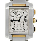 Cartier Tank Francaise 2303 Two Tone Mens Watch