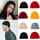 Hip Hop Men's Knitted Skullcap Sailor Beanie Cap Brimless Retro Ski Docker Hat