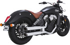 Vance  Hines Chrome Twin Slash Exhaust Mufflers for 15 18 Indian Scout