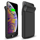 For iPhone XS Max XR X Shockproof Slim Battery Case Power Bank Magnetic 6000mAh