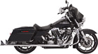 Bassani Chrome 36 Fishtail Slip on Mufflers for 95 16 Harley Touring FLHT FLHX