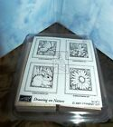 STAMPIN UP 2005 DRAWING ON NATURE RUBBER STAMP SET 4 Butterfly Hummingbird NEW