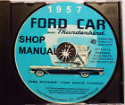 1957 FORD FAIRLANE SKYLINER SUNLINER CRESTLINE MAINLINE SHOP MANUAL CD-ROM