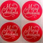 20 FOIL MERRY CHRISTMAS CARD HOLIDAY SEALS STICKERS USA MADE 47 FAST USA SHIP