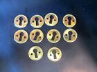 New Old Stock Solid Brass Keyhole Escutcheon - Lot of 10 (303H)