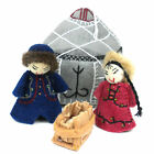 The Holiday Aisle 4 Piece Felt Yurt Nativity Set