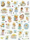 ADORABLE MOREHEAD ANGEL BABES SAYINGS STICKERS SEALS 8X10 Full Sheet