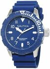 Nautica Men's 'NSR 106' Quartz Stainless Steel and Silicone Casual Watch, Col...