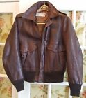 Vintage SCHOTT NYC BROWN LEATHER BOMBER FLIGHT JACKET MENS SIZE 40