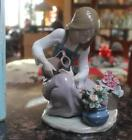 Lladro 1376 Watering The Flowers Porcelain Figurine Retired 1990 High Value Box