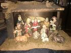 Nativity Set Brinns Eleven Piece Lighted Vintage Porcelain Large