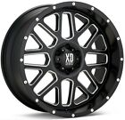 20 Inch Black Wheels Rims XD Series XD820 Grenade 20x12 Jeep JK LIFTED Set of 5