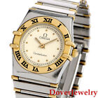 Omega Constellation 18K Yellow Gold Stainless Steel Ladies Watch 34.3 Grams NR