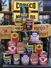 OIL CAN BANKS CORECO ESSO PENNZOIL TEXACO SUNOCO PENN POLLY GULF HARLEY CHOOSE