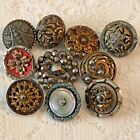 Great Assortment of Victorian Steel Cut/Cup Antique Buttons,Tints, Shell OME  #4