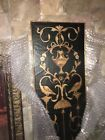 Distressed Black And Gold Large Wall Decorative High End Panels , Two