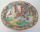 Chinese 19th Century Antique Cantonese Rose Medallion Oval Dish ~ Free Shipping