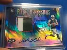 Sam Darnold 2018 Panini Illusions First Impressions RPA Patch Auto 75 Jets RC