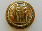 State Seal of Kentucky Antique Brass Metal Uniform Button WATERBURY BUTTON CO.