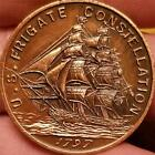 1797 U.S. NAVY FRIGATE CONSTELLATION Coin Token MADE from ACTUAL PARTS of SHIP !