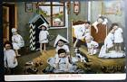 Postcard Multiple Babies Early Morning Pastime Early Images Tinted
