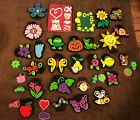 NWT Foam Chunky Stamps Lot Over 25 Items Crafts Flowers Snail Monkey Worm Baby