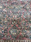 Auth: 30's Antique Sarouk Lustrous Botanical Red Wool Beauty Traditional 4x7 NR