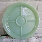 Vintage Fire King Jadeite Green Milk Glass Five Section Plate Restaurant Ware