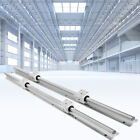 2pcs Sbr20 Slide Guide Rod 650-2200mm Linear Rail 4pcs Sbr20uu Bearing