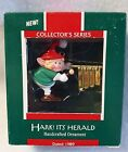 Hallmark Elf Ornament Hark It's Herald First In Series 1989 Original Box