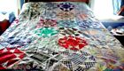 Vintage cotton hand pieced quilt top 70