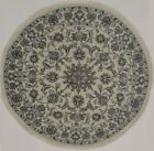 Charming Hand Knotted Classic Round Nain Kashmar Persian Rug Oriental Carpet 5X5