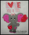 Love you a ton elephant Premade Paper piecing set by scrappintoday