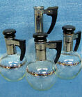 Vintage Inland Mini Coffee/Tea Servers w/Cork Lids Set of 3 Small
