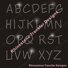 Letters or Numbers Rhinestone Transfer New Hotfix  Iron On Bling