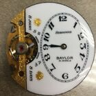 Antique Hebdomas 8 Day Pocket Watch Movement And Porcelain Dial 1 Not Working
