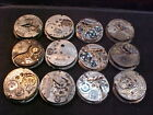 large lot of 16s & 18s fake Railroad watch pocket watch movements
