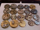 lot of 20 mixed 0s-18s  pocket watch movements for parts altered art steampunk