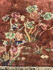 Auth: Antique Art Deco Chinese Rug  Nichols  Rust Red  9x12 Excellent Beauty NR