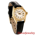 Rolex Oyster Perpetual Date 6901 18K Gold 26mm Ladies Watch NR