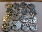 lot of 16 nickel American  pocket watch movements 6s-18s