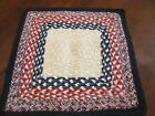 ANTIQUE BRAIDED TABLE TOP MAT RUNNER RUG AMERICANA