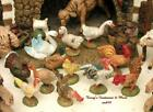 FONTANINI DEPOSE ITALY 5 12PC BARNYARD BIRDS NATIVITY VILLAGE FIGURES 51517 GC