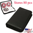 Stores 80pc DVD CD DISC Holder Album Storage Case Folder Carry Organizer Bag Box