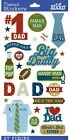 Sticko Dad Fathers Day NEW Scrapbook Stickers Icons Words Football Shirt Tie
