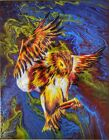Original One of a Kind Acrylic Painting LAVA OWL by Ty Anaya 14 x 11