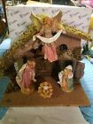 FONTANINI NATIVITY MUSICAL NATIVITY SET WITH STABLE 7 SCALE 54809