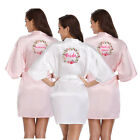 Womens Satin Silk Wedding Robe Bridesmaid Bride Maid of honor Dressing Gown