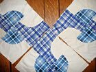 Antique Vintage Lot of 4 Rocky Road to Dublin Quilt Blocks + 27 extra cut pieces