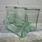Anchor Hocking Depression Green Glass Tumblers Swanky Swigs Set 4